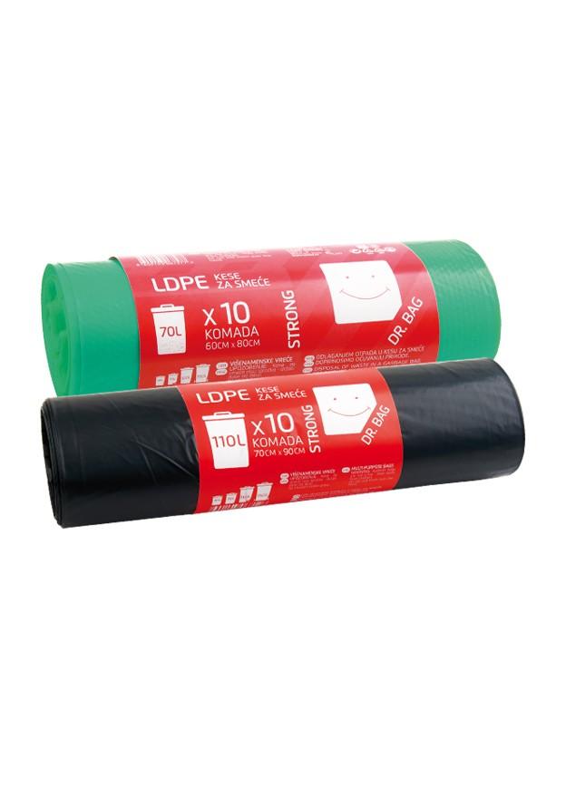 LDPE kese za smece dva proizvoda prikaz a